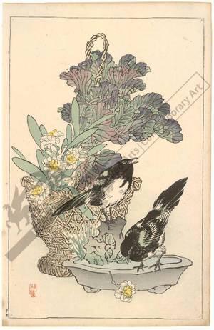 Kono Bairei: Birds and flower arrangement (title not original) - Austrian Museum of Applied Arts