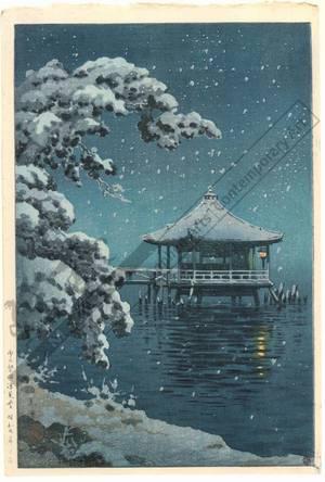 風光礼讃: Ukimi hall at Katada in snow - Austrian Museum of Applied Arts