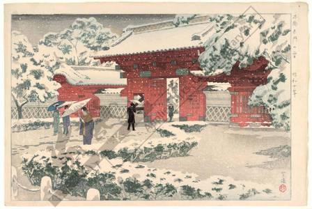 笠松紫浪: Red gate in snow - Austrian Museum of Applied Arts