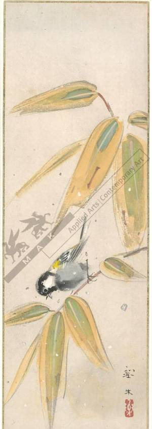 Unknown: Titmouse on bamboo (title not original) - Austrian Museum of Applied Arts