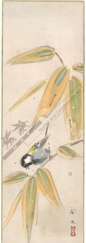 無款: Titmouse on bamboo (title not original) - Austrian Museum of Applied Arts