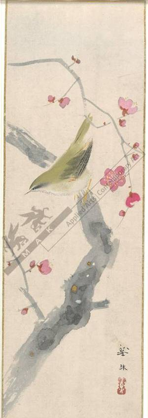 無款: Warbler on plum tree (title not original) - Austrian Museum of Applied Arts