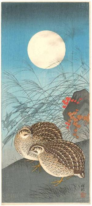 Shoson Ohara: Quails (title not original) - Austrian Museum of Applied Arts