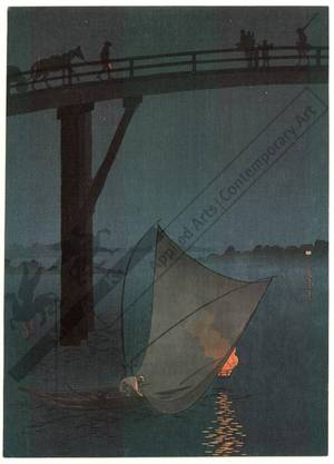 Arai Yoshimune: Fisherman in the night (title not original) - Austrian Museum of Applied Arts