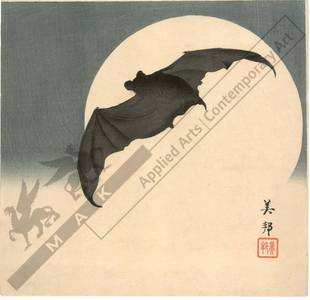 Biho: A bat and the moon (title not original) - Austrian Museum of Applied Arts