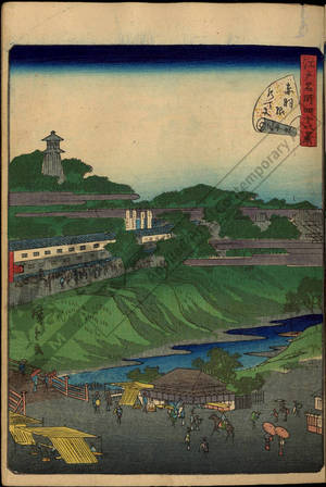二歌川広重: Number 39: The Suitengu Shrine at Akabane - Austrian Museum of Applied Arts