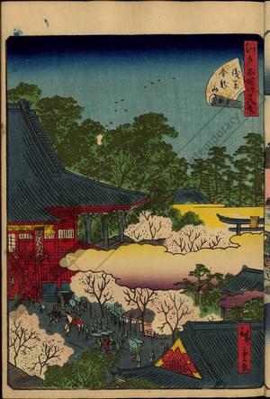 二歌川広重: Number 21: The Kinryuzan temple in Asakusa - Austrian Museum of Applied Arts