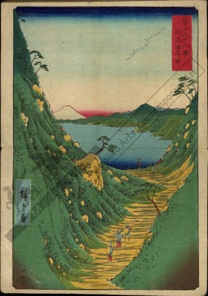 歌川広重: Shiojiri pass in the province of Shinano - Austrian Museum of Applied Arts