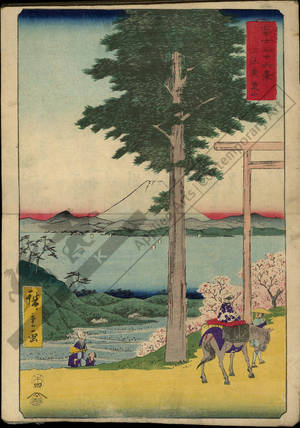 歌川広重: Mount Rokuso in the province of Kazusa - Austrian Museum of Applied Arts