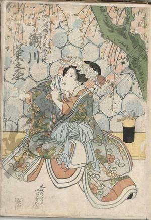 歌川国貞: Segawa Kikunojo as Sakurahime - Austrian Museum of Applied Arts