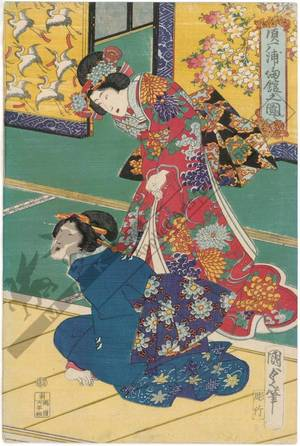 Utagawa Kunisada II: Suma bay - Austrian Museum of Applied Arts