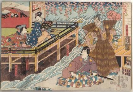 Utagawa Kunisada: Daihanji, Koganosuke, Koshitsu Sadaka and Hinadori - Austrian Museum of Applied Arts