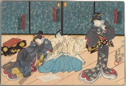 Utagawa Kunisada: Sonoasa, wife of Genpachi, and Oteru, daughter of Genpachi - Austrian Museum of Applied Arts