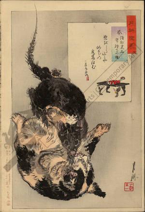 Ogata Gekko: Fighting between a rat and a cat (title not original) - Austrian Museum of Applied Arts