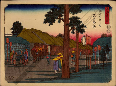 歌川広重: Print 44: Ishiyakushi (Station 44) - Austrian Museum of Applied Arts