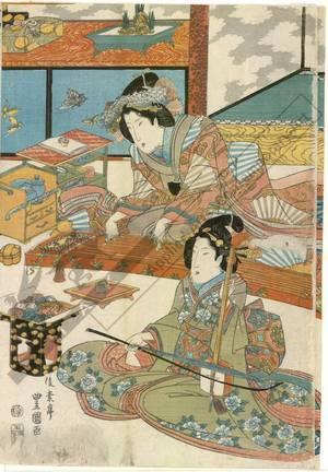 Utagawa Toyoshige: Ninth month - Austrian Museum of Applied Arts
