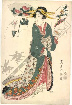 Utagawa Toyokuni I: Snake (title not original) - Austrian Museum of Applied Arts