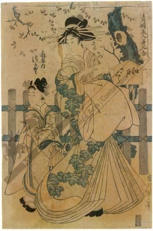 菊川英山: Courtesan Tsukasa of the Ogi house - Austrian Museum of Applied Arts