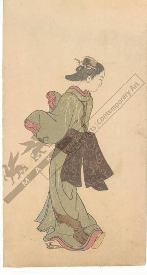 Nishikawa Sukenobu: Young woman (title not original) - Austrian Museum of Applied Arts