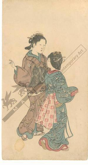 Nishikawa Sukenobu: Women chattering (title not original) - Austrian Museum of Applied Arts