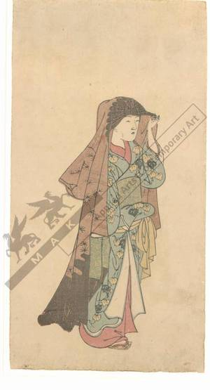 西川祐信: Woman going out (title not original) - Austrian Museum of Applied Arts