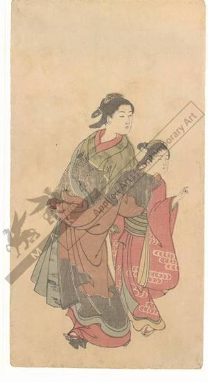 Nishikawa Sukenobu: Courtesan with kamuro (title not original) - Austrian Museum of Applied Arts