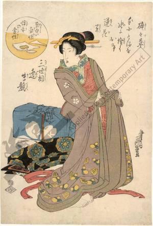 渓斉英泉: Geisha (title not original) - Austrian Museum of Applied Arts