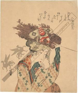 葛飾北斎: Woman from the Ohara village (title not original) - Austrian Museum of Applied Arts