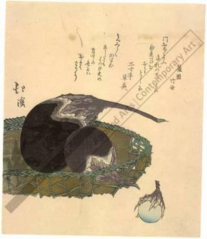 魚屋北渓: Eggplants (title not original) - Austrian Museum of Applied Arts