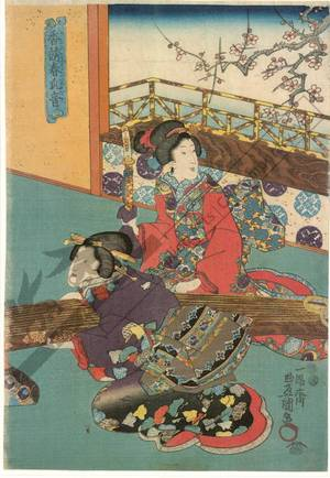 Utagawa Kunisada: The fragrance of the spring and the sound of the koto - Austrian Museum of Applied Arts
