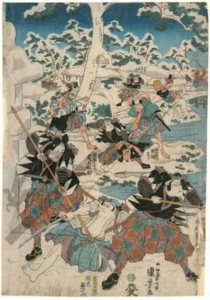 Utagawa Kuniyoshi: Eleventh act from the Chushingura (title not original) - Austrian Museum of Applied Arts