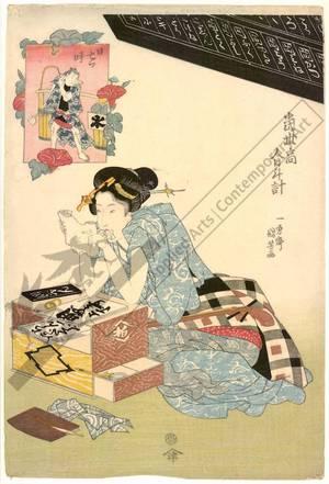 Utagawa Kuniyoshi: Seventh hour of the day - Austrian Museum of Applied Arts