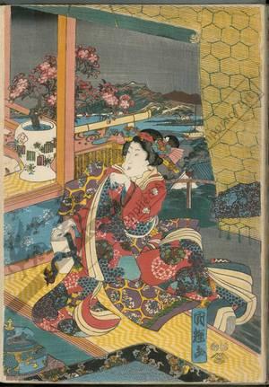 Utagawa Kuniteru: Flowers - Austrian Museum of Applied Arts