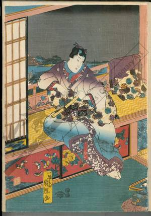 Utagawa Kuniteru: Flowers - Austrian Museum of Applied Arts