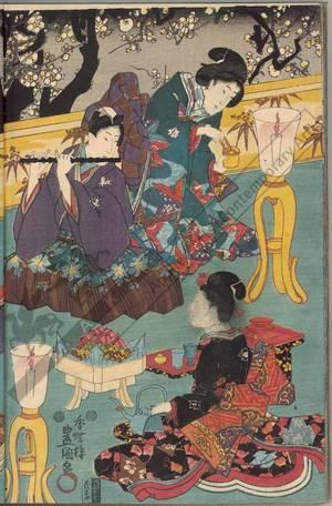 Utagawa Kunisada: An evening with music (title not original) - Austrian Museum of Applied Arts