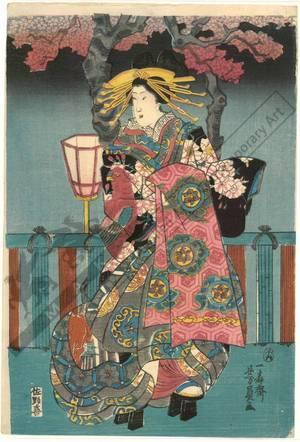 Utagawa Yoshikazu: Competition of courtesans - Austrian Museum of Applied Arts