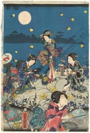 Utagawa Yoshitora: Autumn moon - Austrian Museum of Applied Arts