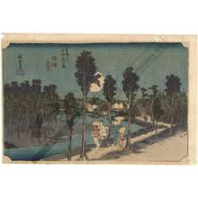 歌川広重: Numazu: Twilight (Station 12, Print 13) - Austrian Museum of Applied Arts