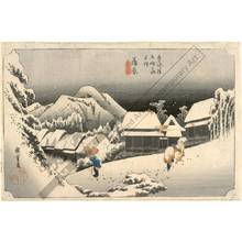 Utagawa Hiroshige: Kambara: Evening snow (station 15, print 16) - Austrian Museum of Applied Arts