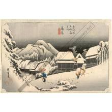 歌川広重: Kambara: Evening snow (station 15, print 16) - Austrian Museum of Applied Arts