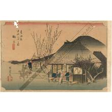 Utagawa Hiroshige: Mariko: The famous teahouse (Station 20, Print 21) - Austrian Museum of Applied Arts