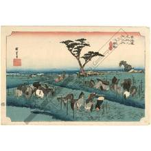 Utagawa Hiroshige: Chiryu: The summer horse fair (Station 39, Print 40) - Austrian Museum of Applied Arts