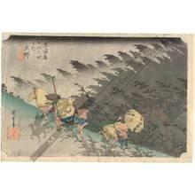 Utagawa Hiroshige: Shono: Driving rain (Station 45, Print 46) - Austrian Museum of Applied Arts