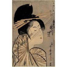 喜多川歌麿: Courtesan Takigawa and kamuro Onami and Menami from the Ogi house - Austrian Museum of Applied Arts