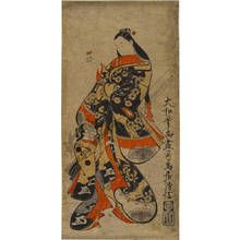 鳥居清倍: Beauty with Hozuki fruit (title not original) - Austrian Museum of Applied Arts