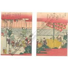 Hishikawa Kiyoharu: Festival procession (title not original) - Austrian Museum of Applied Arts