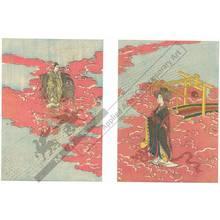 Hishikawa Kiyoharu: Meeting of Kengyu and Shokujo (title not original) - Austrian Museum of Applied Arts