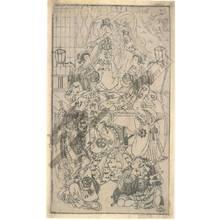 Ippitsusai Buncho: Theatre scene (title not original) - Austrian Museum of Applied Arts