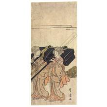 Utagawa Toyohiro: Procession of beauties (title not original) - Austrian Museum of Applied Arts