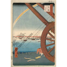 Utagawa Hiroshige: Ushimachi in Takanawa - Austrian Museum of Applied Arts